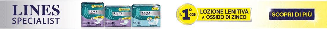 Lines Specialist - scopri i prodotti assorbenti per l'incontinenza urinaria